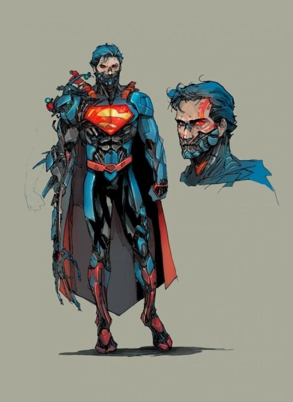 esboco-de-super-homem-Ciborgue